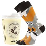 Ponožky LONKA Coffee socks - vzor 4
