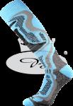 Termo podkolenky VoXX Carving světle modrá