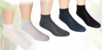Ponožky NOVIA Bambus vyšší lem bílá