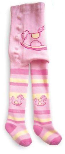 Dětské punčocháče Baby froté ZOO NOVIA koník růžová