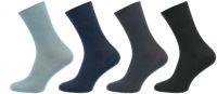 Ponožky NOVIA Medic 100% bavlna tmavě šedá